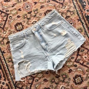 💕3 for $20 BASICS Denim Cropped Distressed Shorts